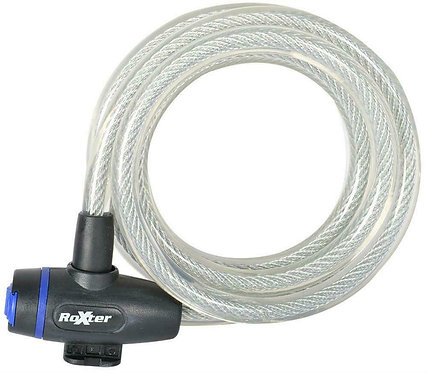 Oxford Roxter Cable Lock : 1.8m x 12mm : Clear