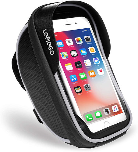 LEMEGO Waterproof Bike Phone Mount Holder Pouch Bag for phones under 6 inches