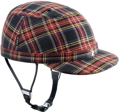 Paris Blue Red Check Helmet Cover