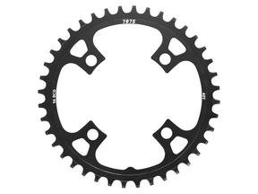Narrow-Wide Alloy Chainring: 40T Black BCD 96