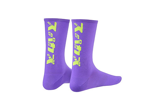SupaSox Katakana SL Neon Purple - Socks