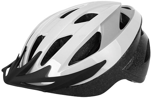 Oxford Neat Helmet: White/Grey Medium 54-58cm