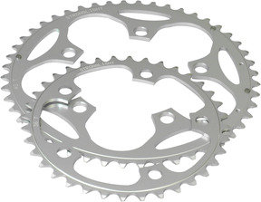 5-Arm Alloy Chainring: 40T Silver