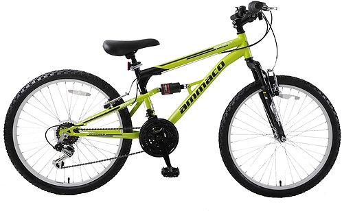 "Ammaco Summit 24"" Wheel Kids Dual Full Suspension Mountain Bike"