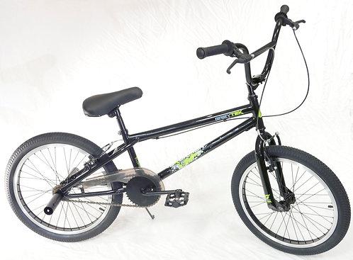 """Greytek Skorpion 20"""" BMX Bike : Black Gloss / Green"""