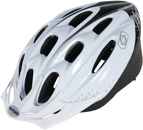 F15 Helmet: White/Black Large 58-61cm