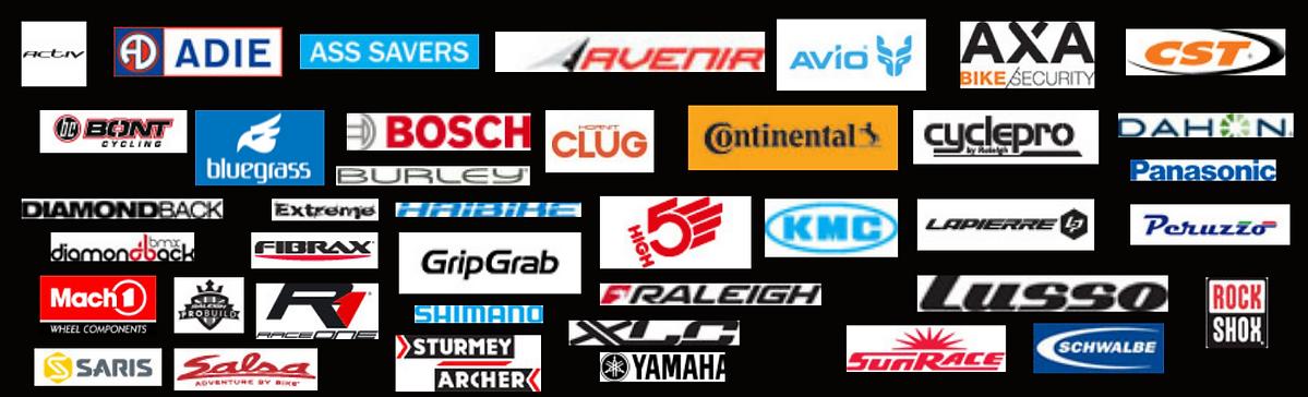 Simply Bike Stuff Supplier logos