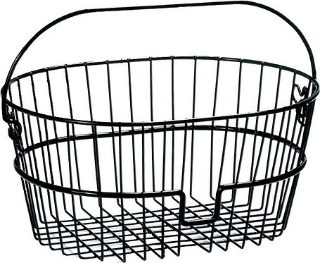 Black Wire Front Basket 0392S