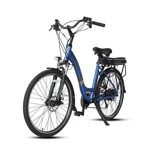 "GTB C1 18 x 26"" Step Through Electric Bicycle : Blue"