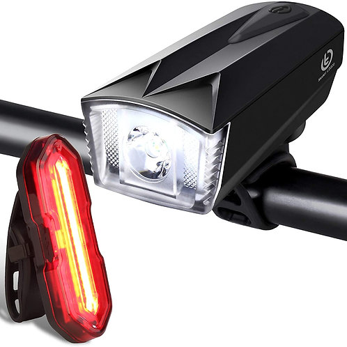Techole Bike Light Set, Rechargeable Bicycle Lights with 300LM Waterproof