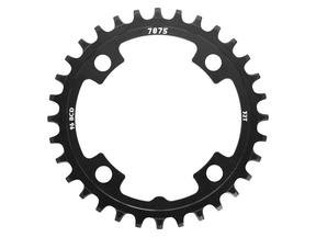 Narrow-Wide Alloy Chainring: 30T Black BCD 96