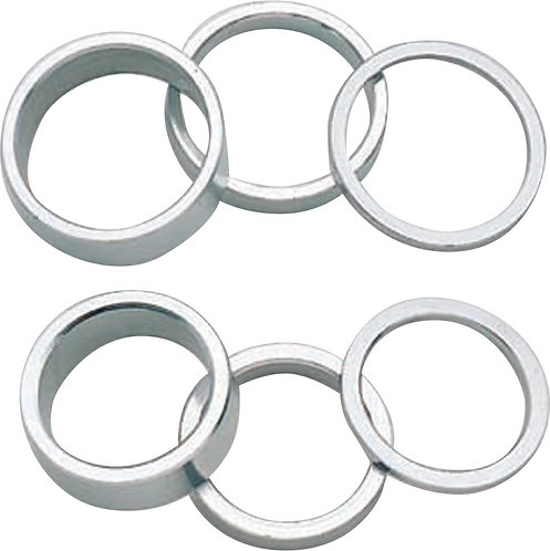"""1"""" Alloy Spacers (bag of 10): 5mm Silver"""