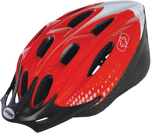 F15 Helmet: Red/White Large 58-61cm