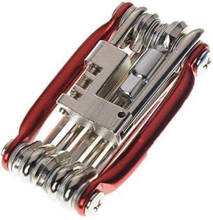 Portable Bicycle Repair Multitool Kit with Chain Breaker and Hex Keys