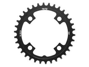 Narrow-Wide Alloy Chainring: 34T Black BCD 96
