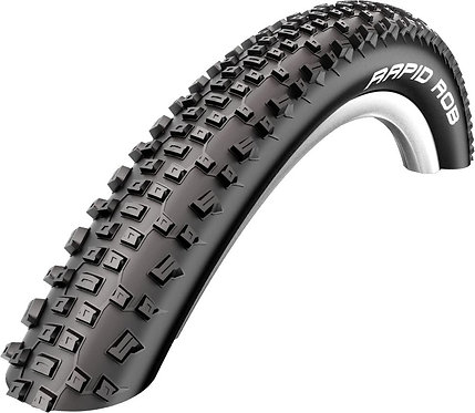 """Rapid Rob Tyre: 27.5"""" x 2.10 Black-Skin Wired"""