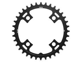 Narrow-Wide Alloy Chainring: 36T Black BCD 96