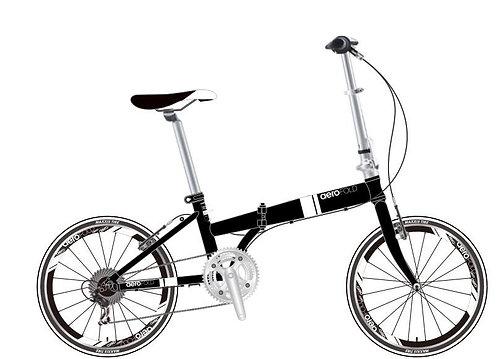 "Greytek 20"" Wheel Aero Folding Bike : Matt Black"