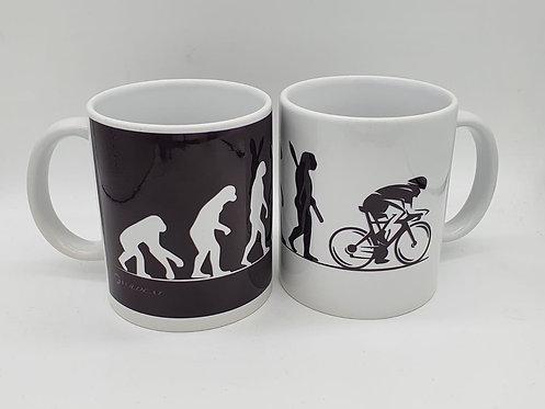 Cyclist Novelty Mug - Evolution