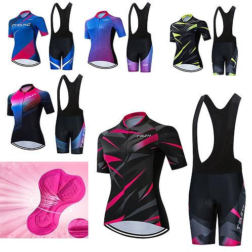 TELEYI Trend Pro Women Cycling Set MTB  Cycling Jersey Set