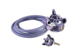 Cable Lock: Purple Leopard