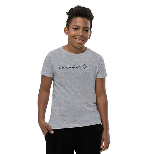 Youth Short Sleeve T-Shirt - heather grey or white only