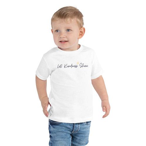 Toddler Short Sleeve Tee - white, blue or pink
