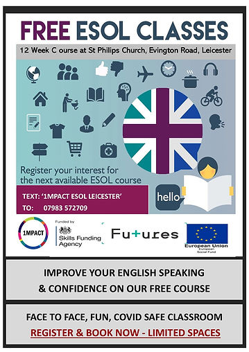 1MPACT ESOL CLASSES - LEICESTER ADVERT (