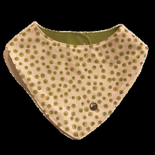 Babero puntos verde