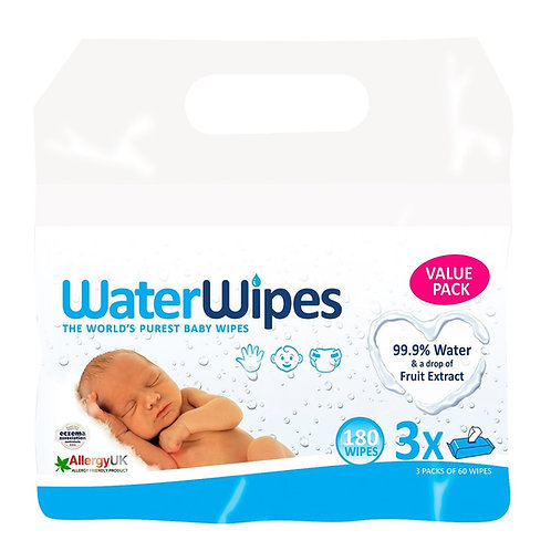 TOALLITAS HÚMEDAS WATERWIPES 3X60 UNS