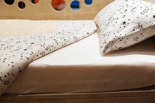 Sábanas de algodón semi elástico - Constelación Blanco