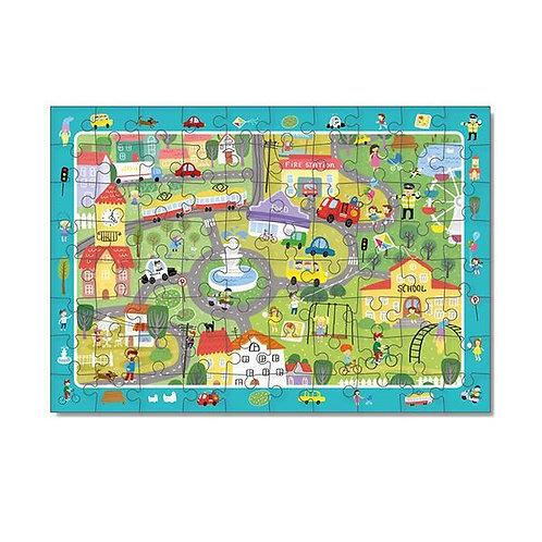 Puzzle Vida en la Ciudad 80 piezas