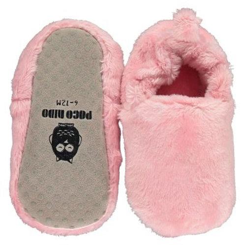 Zapatitos bebé y niño Poco Nido - Mini shoes vegano peludo Rosado