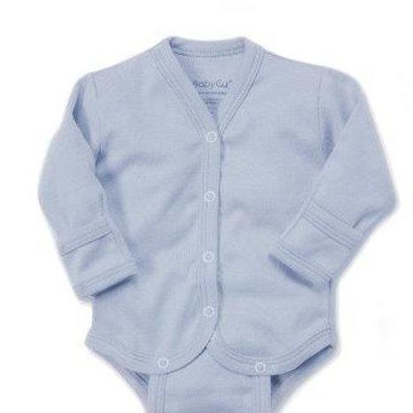 Body manga larga BabyCu Azul