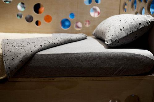 Sábanas de algodón semi elástico - Constelación gris