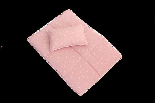 Cobertor Rosa Estrellas y Lunas
