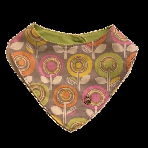 Babero flores multicolor