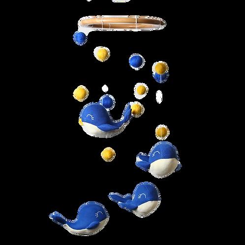 Móvil Ballena Azul