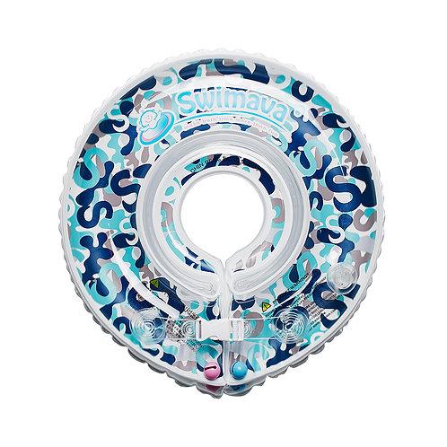 Aro flotador de Aprendizaje diseño Camo Blue + pañal de agua