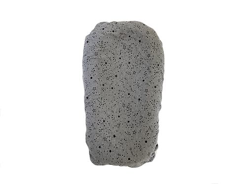 Funda gris estrellada