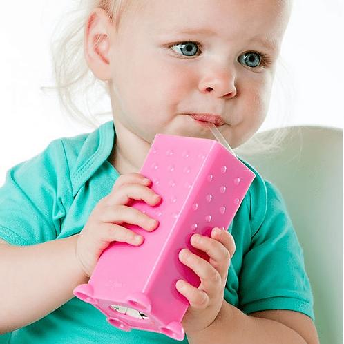 Portacajita de jugos- rosado