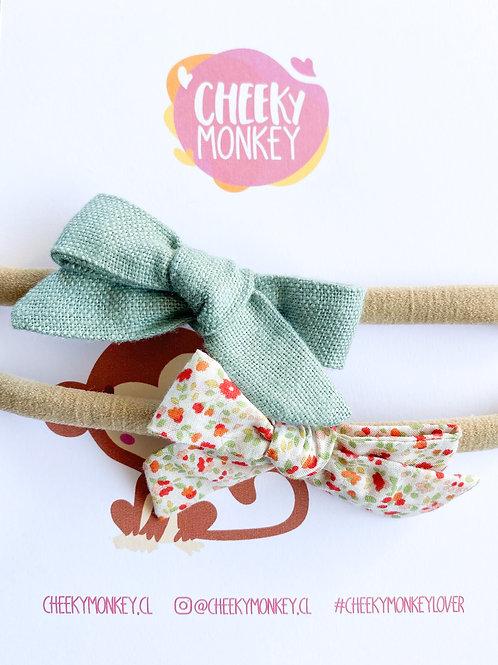 Verde agua - Cranberry, pack de cintillos