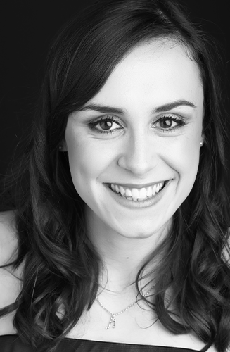 Black and white profile picture of curator Bethan Griffiths