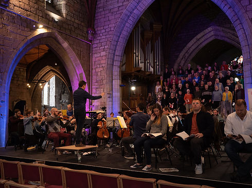 The New Sinfonia Orchestra and choir performing in St Asaph Catherdral