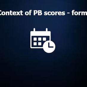 Context to PB scores - form