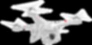 Flying Drone monitors landscape fire