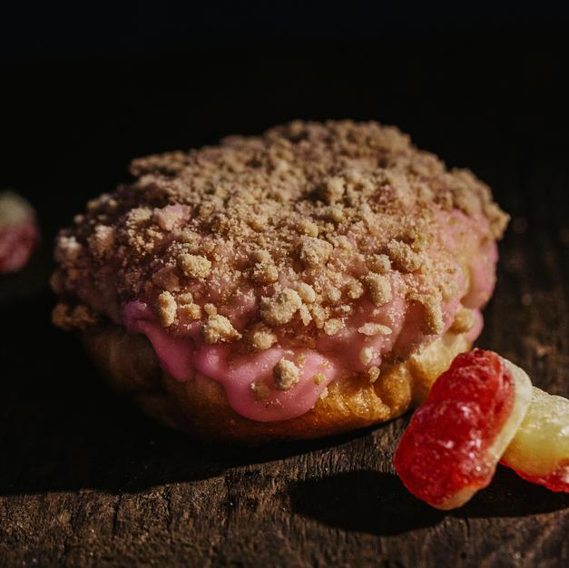 Rhubard, Strawberry & Gin Jam and Custard