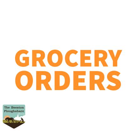 Grocery Orders - Bank Holiday Weekend