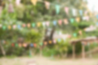 abstract blurred festival gardening at p