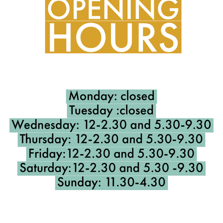ReOpening from 2nd December.